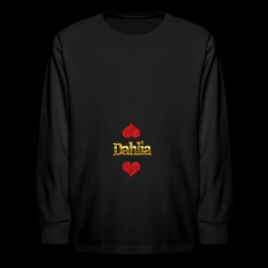 Dahlia - Kids' Long Sleeve T-Shirt