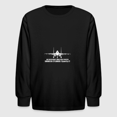 Sukhoi SU 27 Flanker - Kids' Long Sleeve T-Shirt
