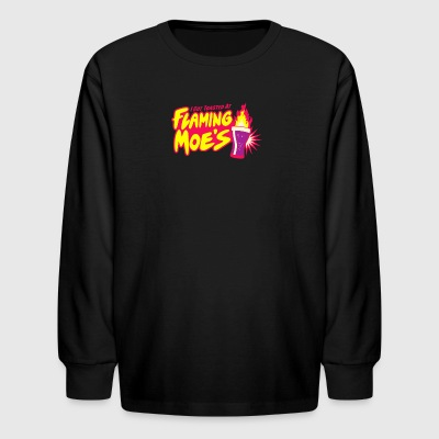 Flaming Moe s - Kids' Long Sleeve T-Shirt