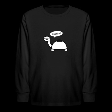 Mine Turtle - Kids' Long Sleeve T-Shirt