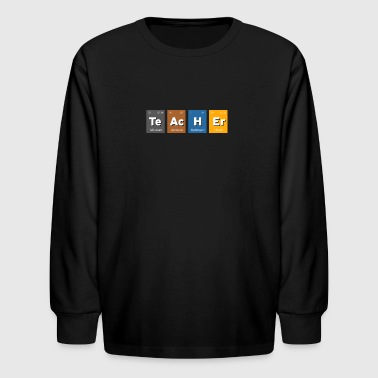 Teacher Chemistry Geek Nerd Symbols Elements - Kids' Long Sleeve T-Shirt