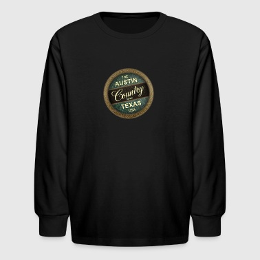 The Austin Country Music Texas - Kids' Long Sleeve T-Shirt