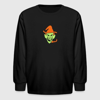 Naughty Halloween Witch - Kids' Long Sleeve T-Shirt