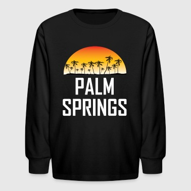 Palm Springs Sunset And Palm Trees Beach - Kids' Long Sleeve T-Shirt
