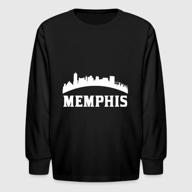 Vintage Style Skyline Of Memphis TN - Kids' Long Sleeve T-Shirt