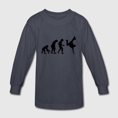 break dance evolution - Kids' Long Sleeve T-Shirt