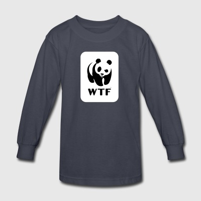 WWF parody logo - Kids' Long Sleeve T-Shirt