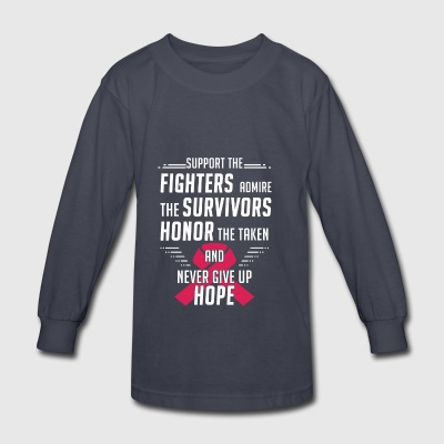 Breast Cancer Awareness Support Fighters - Kids' Long Sleeve T-Shirt