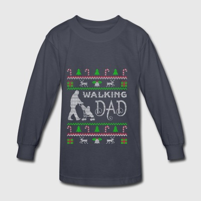 Walking Dad Ugly Christmas Sweater gift - Kids' Long Sleeve T-Shirt