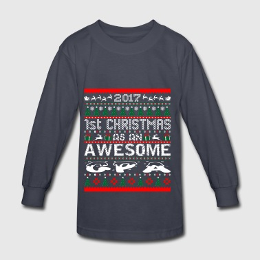 2017 First Christmas Awesome Gpa Ugly Sweater - Kids' Long Sleeve T-Shirt