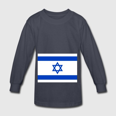 Israel country flag love my land patriot - Kids' Long Sleeve T-Shirt