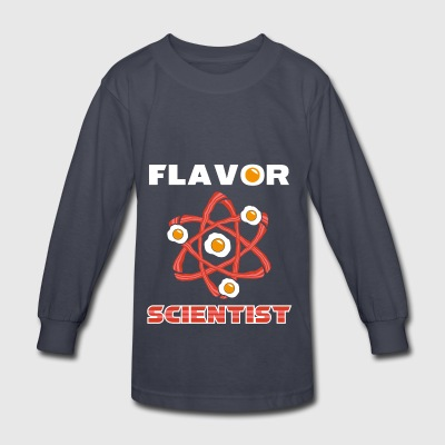 Flavor Scientist Funny Chef Gift - Kids' Long Sleeve T-Shirt