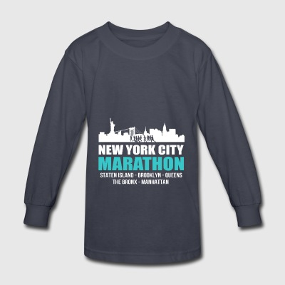 NYC New York City Marathon 2017 Tee Shirt - Kids' Long Sleeve T-Shirt