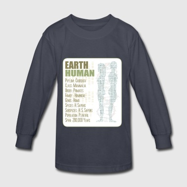 Earth Human - Kids' Long Sleeve T-Shirt