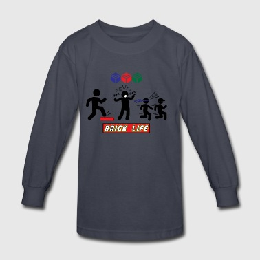 Brick Life in Black Ink - Kids' Long Sleeve T-Shirt