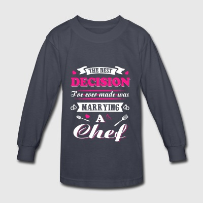 Marrying a Chef T-Shirts - Kids' Long Sleeve T-Shirt