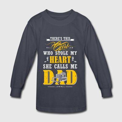 Dad Heavy Equipment Operator T-Shirts - Kids' Long Sleeve T-Shirt