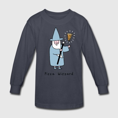 Pizza_Wizzard - Kids' Long Sleeve T-Shirt