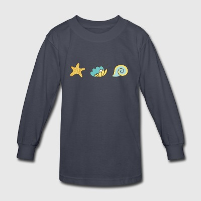 seashells - Kids' Long Sleeve T-Shirt