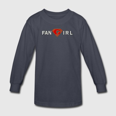 Supergirl - Fangirl - Kids' Long Sleeve T-Shirt