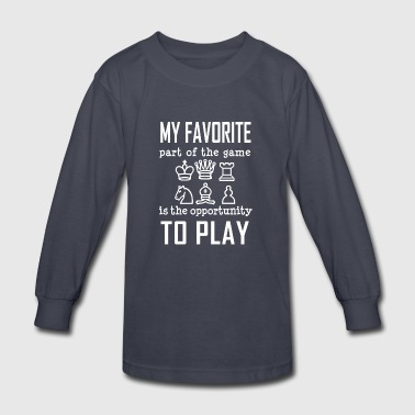 Chess Love Play Opportunity - Cool Birthday Gift - Kids' Long Sleeve T-Shirt