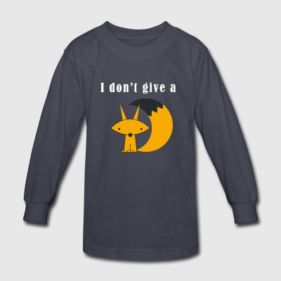 I Dont't Give A Fox Cute Funny Novelty - Kids' Long Sleeve T-Shirt