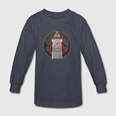 Robot Geared - Kids' Long Sleeve T-Shirt