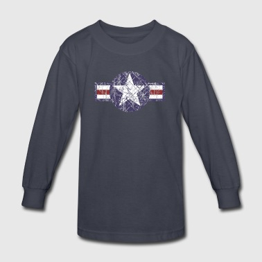 USAF Vintage Roundel - Kids' Long Sleeve T-Shirt