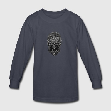 Skull Ornate - Kids' Long Sleeve T-Shirt