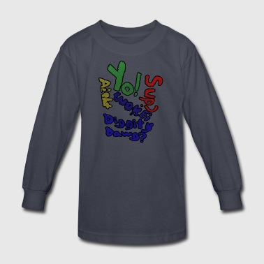 Moomaw_Text_Outlined - Kids' Long Sleeve T-Shirt