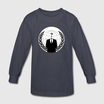Anonymous Hacker - Kids' Long Sleeve T-Shirt