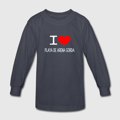 I LOVE PLAYA DE ARENA GORDA - Kids' Long Sleeve T-Shirt