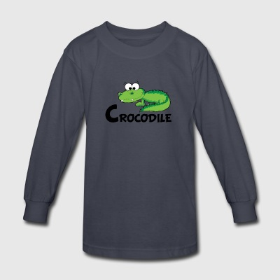 Cartoon Crocodile - Kids' Long Sleeve T-Shirt