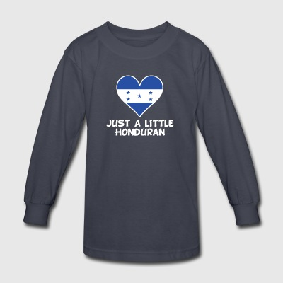 Just A Little Honduran - Kids' Long Sleeve T-Shirt