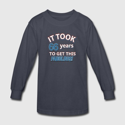 66th birthday party - Kids' Long Sleeve T-Shirt