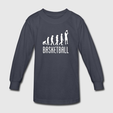 Basketball Evolution - Kids' Long Sleeve T-Shirt