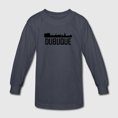 Dubuque Iowa City Skyline - Kids' Long Sleeve T-Shirt