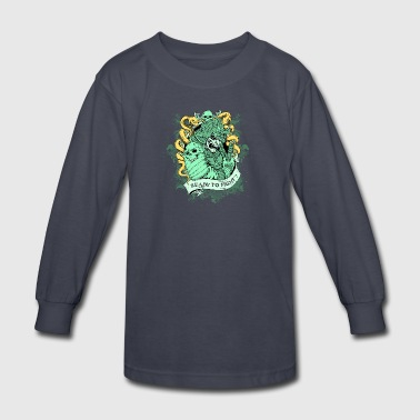 SKULL SAMURAI READY TO FIGHT - Kids' Long Sleeve T-Shirt