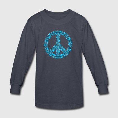Liquid Peace Sign - Kids' Long Sleeve T-Shirt