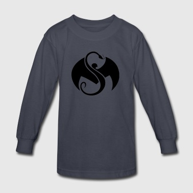strange_music_logo_black - Kids' Long Sleeve T-Shirt
