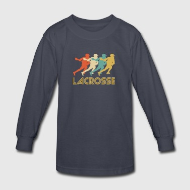 Retro Lacrosse Pop Art - Kids' Long Sleeve T-Shirt