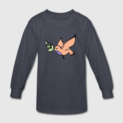 Pastel bird - Kids' Long Sleeve T-Shirt
