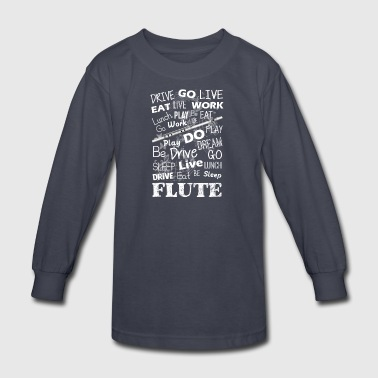 Flute Tee Shirt - Kids' Long Sleeve T-Shirt