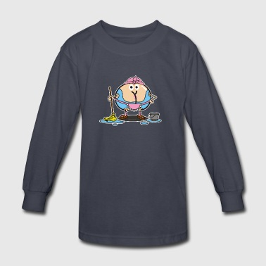 Assmex cleaning lady - Kids' Long Sleeve T-Shirt