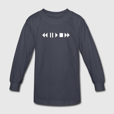 Play Pause Rewind - Kids' Long Sleeve T-Shirt