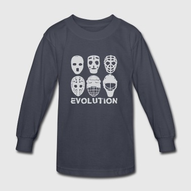 hockey goalie mask evolution - Kids' Long Sleeve T-Shirt
