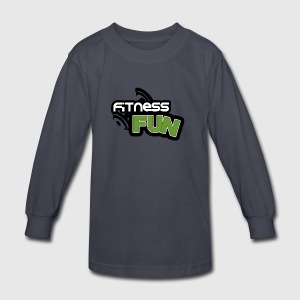 Ffitness fun - Kids' Long Sleeve T-Shirt
