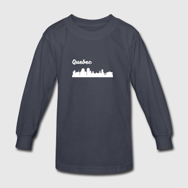 Quebec Skyline - Kids' Long Sleeve T-Shirt