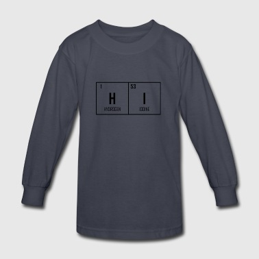 HI - Periodic Table Design - Kids' Long Sleeve T-Shirt