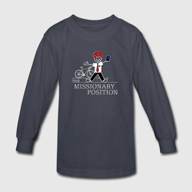 The Missionary Position (Dark) - Kids' Long Sleeve T-Shirt